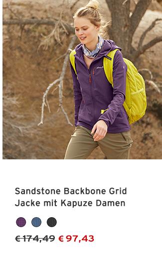 Sandstone Backbone Grid Jacke mit Kapuze Damen